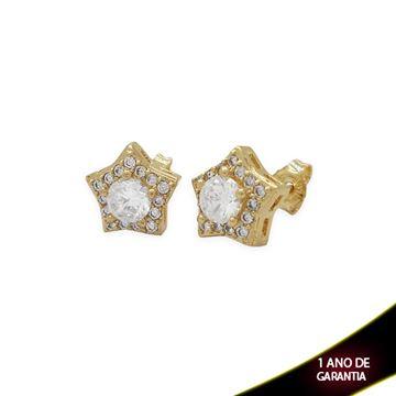 Imagem de Brinco Estrela com Pedras de Zircônias - 0208540
