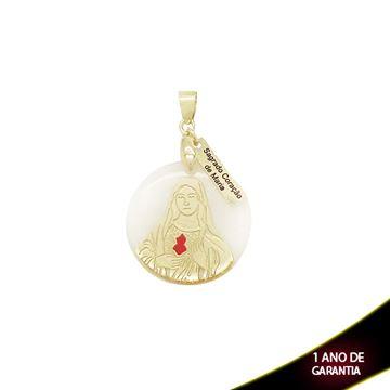 Imagem de Pingente com Réplica de Madrepérola Sagrado Coração de Maria - 0303587