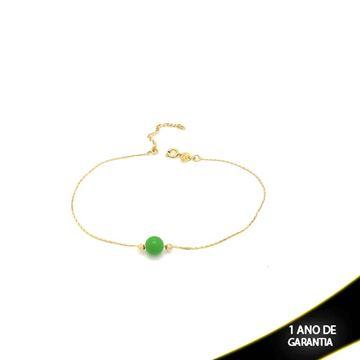 Imagem de Tornozeleira com Bolinha Verde ou Amarelo 28cm com Extensor - 0600489