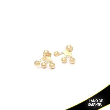 Imagem de Brinco Médio Ear Jacket com Quatro Bolas - 0208712