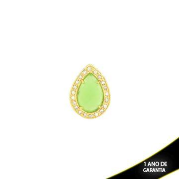 Imagem de Pingente de Pedra Natural Gota Várias Cores com Zircônias  - 0303407