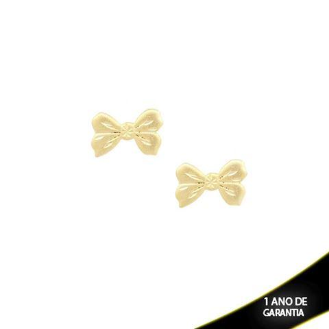 Imagem de Brinco Médio Laço Fosco Diamantado - 0209000