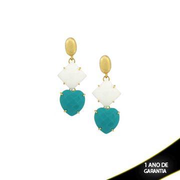 Imagem de Brinco de Pedra Natural Azul ou Preto - 0207805