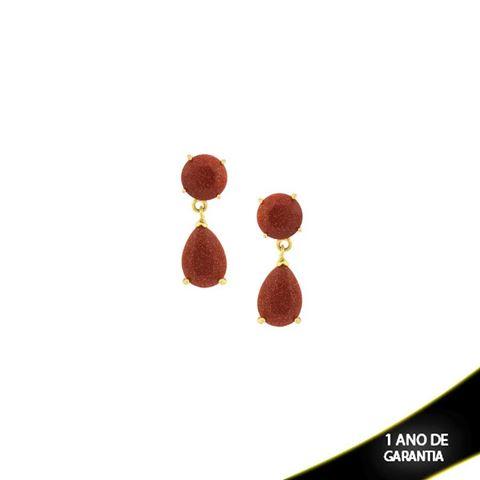 Imagem de Brinco com Pedra Natural cor Pedra do Sol Médio - 0208119