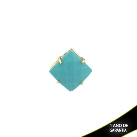 Imagem de Pingente de Pedra Natural Quadrado Várias Cores - 0303405