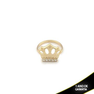 Imagem de Anel Coroa com Cinco Strass Várias Cores- 0104192