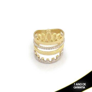 Imagem de Anel Réplica Pandora com Aplique de Rodio e Coroa - 0104228