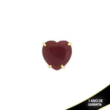 Imagem de Pingente Médio Coração Pedra Natural Várias Cores - 303437