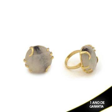 Imagem de Anel de Pedra Natural Trabalhado Várias Cores - 0103482