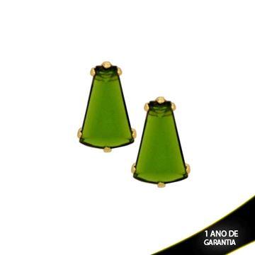 Imagem de Brinco Médio com Pedra Acrílica Várias Cores - 207461