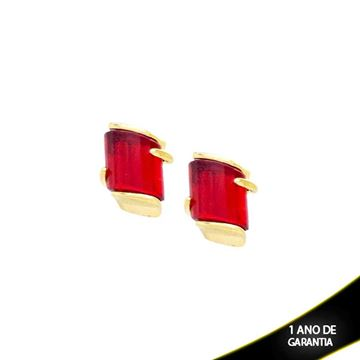 Imagem de Brinco Médio de Pedra Coloridas Várias Cores - 207460