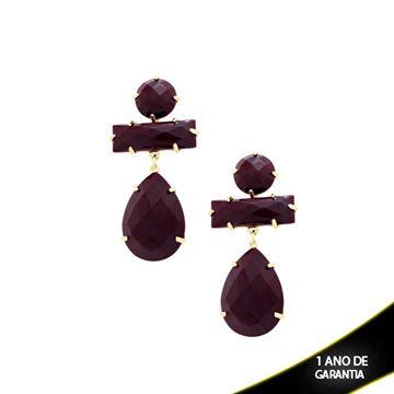Imagem de Brinco Com Pedra Acrílica Várias Cores - 207456