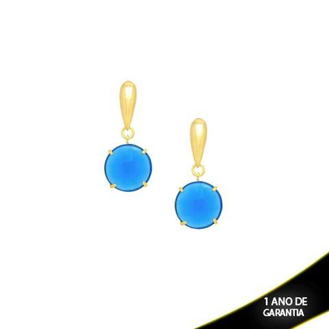 Imagem de Brinco Pedra Natural Azul Claro ou Vinho - 207710