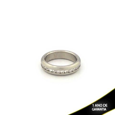 Imagem de Aliança de Compromisso Aço Inox com Zircônias - 0103170