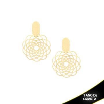 Imagem de Brinco Flor Diamantado dos Lados - 0208984