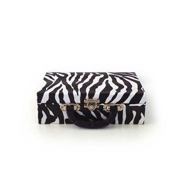 Imagem de Maleta Grande Zebra Branca com Preta para Semi Joias - 02051