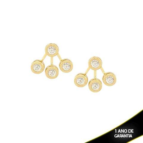 Imagem de Brinco Ear Jacket Redondo com Quatro Strass Médio - 0209301