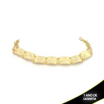 Imagem de Pulseira Feminina Escrava Diamantada 12mm 20cm - 0502822