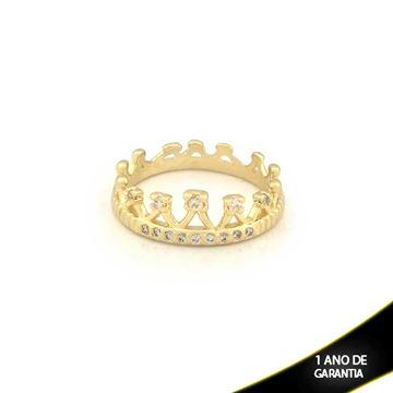 Imagem de Anel Coroa com Zircônias - 0104256
