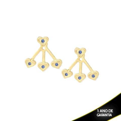 Imagem de Brinco Ear Jacket Coração Várias Cores - 0209292