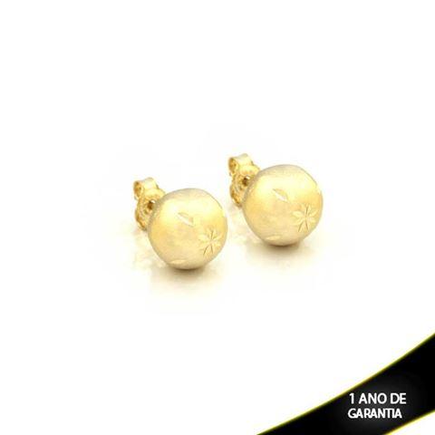 Imagem de Brinco Bola Fosca com Detalhes Diamantados 11mm - 0209363