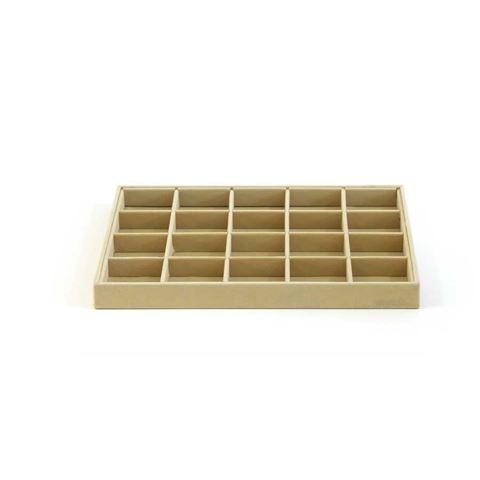 Imagem de Bandeja para organizar brincos anéis e pingentes com 20 espaços - 101236