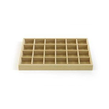Imagem de Bandeja para organizar brincos anéis e pingentes com 24 espaços - 101237