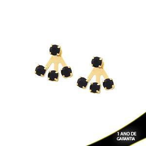 Imagem de Brinco Ear Jacket com Quatro Strass Preto - 0209577