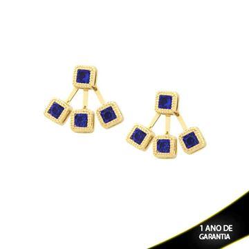 Imagem de Brinco Ear Jacket Quadrado Várias Cores - 0209288