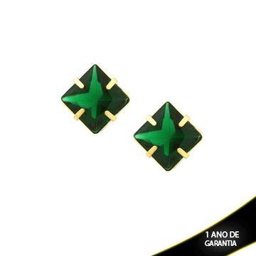 Imagem de Brinco Quadrado de Pedra acrilica Várias Cores - 0209784