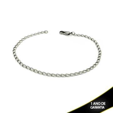 Imagem de Tornozeleira Aço Elos Diamantados 25cm - 0600149