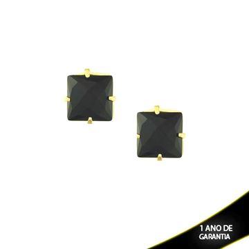 Imagem de Brinco Quadrado com Pedra acrilica Várias Cores - 0209241