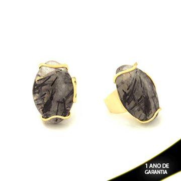 Imagem de Anel Grande de Pedra Natural Várias Cores - 0103479