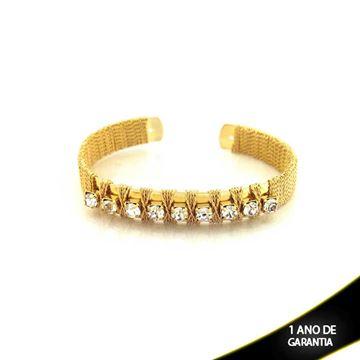 Imagem de Pulseira Bracelete Aramada com Pedras de Strass - 0502440