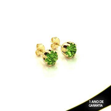 Imagem de Brinco com Pedra de Strass Várias Cores - 0200443
