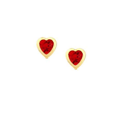 Imagem de Brinco Infantil Coração com Strass Várias Cores - 0200064