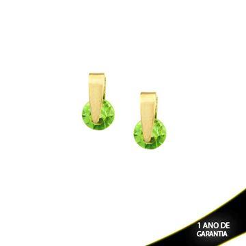 Imagem de Brinco com Pedra de Strass Várias Cores - 0200133