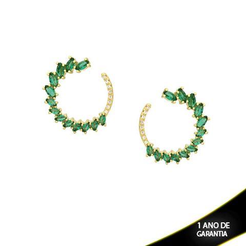 Imagem de Brinco com Zircônias e Pedras Várias Cores - 0210050
