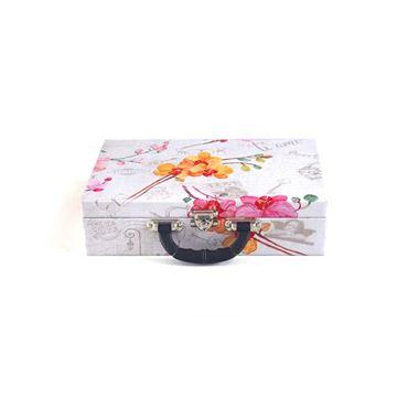 Imagem de Maleta Grande Estampa de Flores para Semi Joias - 02089