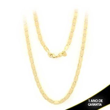 Imagem de Corrente Masculina diamantada Elos Lisos 4mm 60cm - 0400772