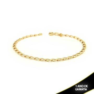 Imagem de Pulseira Masculina 1x1 Diamantada 4,5mm 20cm - 0502229