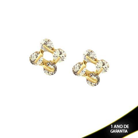 Imagem de Brinco com Quatro Pedras de Zircônias - 0209271