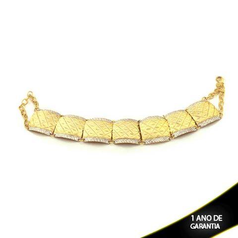Imagem de Pulseira Feminina Escrava Diamantada com Aplique de Rodio 20mm 20cm  - 0503110