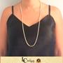 Imagem de Corrente Feminina Colar Inteiro com Pedras de Zircônias 70cm - 0402760