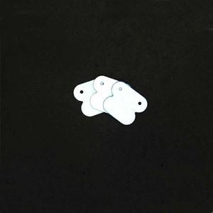 Imagem de Etiqueta Branca para Brinco Embalagem com 100 unidades - 0800001