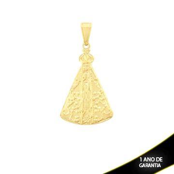 Imagem de Pingente Nossa Senhora Aparecida com Detalhes Diamantados - 0303923