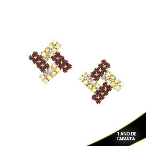 Imagem de Brinco com Strass Várias Cores - 0210121