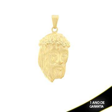 Imagem de Pingente  Face de Cristo Fosca com Detalhes Diamantados - 0303919