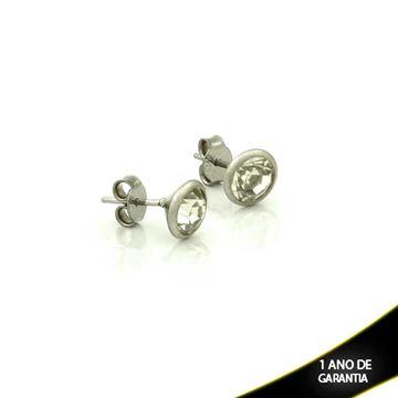 Imagem de Brinco Aço Inox com Pedra de Strass - 0210127