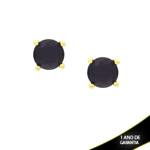Imagem de Brinco com Pedra Natural Várias Cores - 0210150